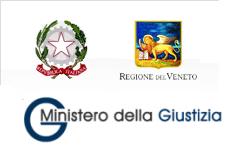 Loghi: Governo Italiano - Regione del Veneto - Ministero della Giustizia